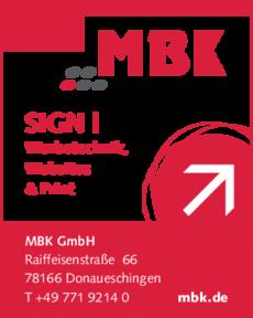 Anzeige MBK GmbH