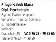 Anzeige Pfluger-Jakob Maria