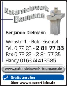 Anzeige Grabmale Baumann