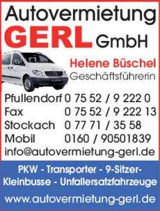 Anzeige Autovermietung Gerl GmbH