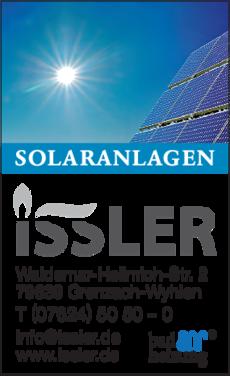 Anzeige Solaranlagen Issler GmbH