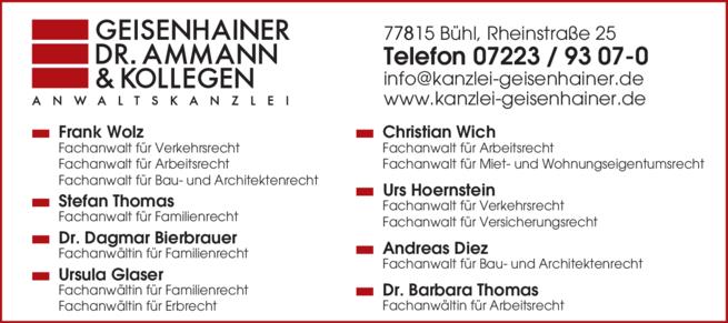 Anzeige Geisenhainer Dr. Ammann & Kollegen