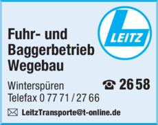 Anzeige Leitz Berthold