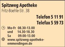 Anzeige Spitzweg Apotheke