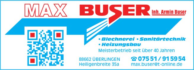 Anzeige Buser Max