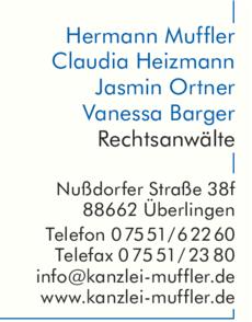 Anzeige Kanzlei Muffler Rechtsanwälte