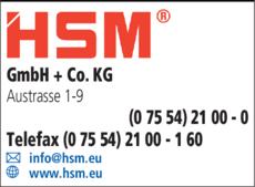 Anzeige HSM GmbH + Co.KG