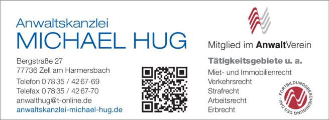 Anzeige Hug Michael