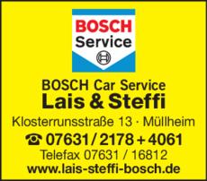 Anzeige Bosch Car Service Lais & Steffi GmbH