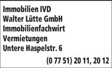 Anzeige Lütte Walter GmbH