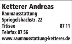 Anzeige Ketterer Andreas