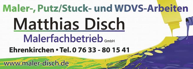 Anzeige Disch Malerfachbetrieb GmbH
