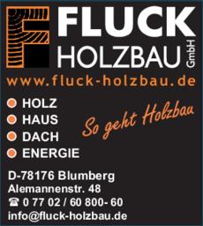 Anzeige Holz Fluck