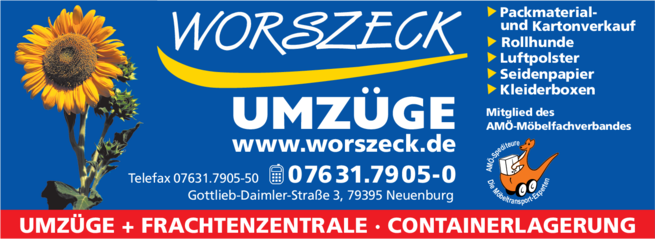 Anzeige A. Worszeck Möbelspedition Logistic GmbH