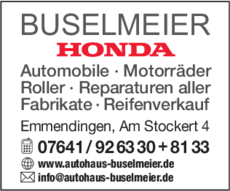 Anzeige Buselmeier Rolf e.K. Autohaus