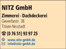 Anzeige Nitz GmbH