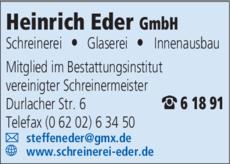 Anzeige Eder Heinrich
