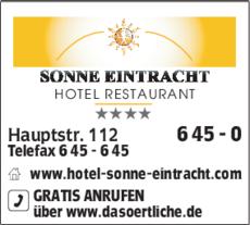 Anzeige Sonne-Eintracht