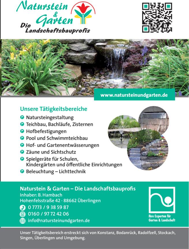 Anzeige Garten Naturstein & Garten