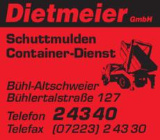 Anzeige Dietmeier GmbH