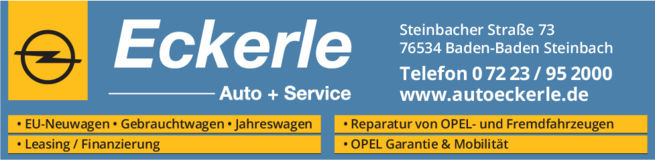 Anzeige Opel Autohaus Eckerle