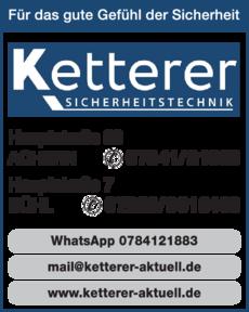 Anzeige Ketterer Sicherheitstechnik