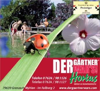 Anzeige Bahner-Hortus Garten- und Landschaftsbau