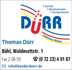 Anzeige Dürr Thomas