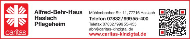 Anzeige Alfred-Behr-Haus