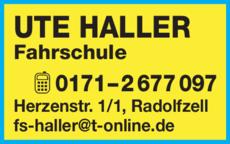 Anzeige Haller Ute