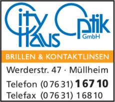 Anzeige City Haus Optik GmbH