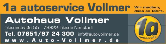 Anzeige Auto Autoservice 1a Vollmer