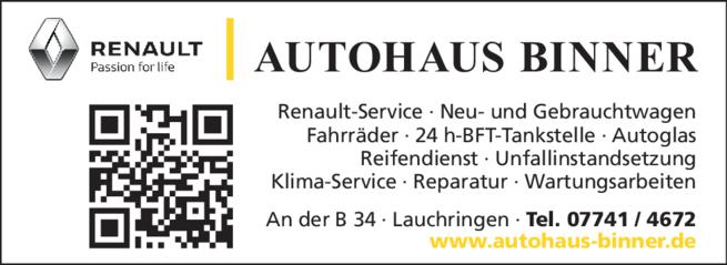 Anzeige Binner Autohaus