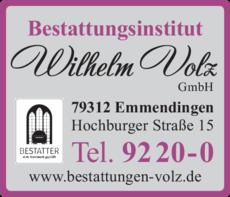 Anzeige Volz Wilhelm GmbH