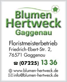 Anzeige Hertweck Blumen
