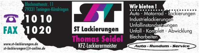 Anzeige Seidel Thomas