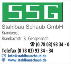 Anzeige Schaub Stahlbau GmbH