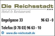 Anzeige Die Reichsstadt