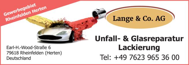 Anzeige Autolackierung Lange & Co. AG