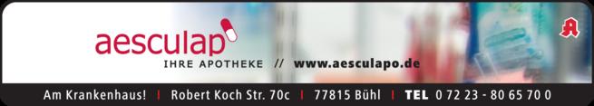 Anzeige Aesculap-Apotheke