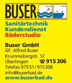 Anzeige Buser GmbH