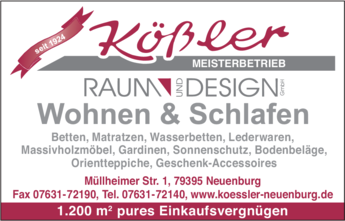 Anzeige Kößler Raum und Design GmbH
