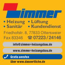 Anzeige Zimmer Heizungsbau GmbH