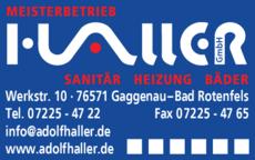 Anzeige Haller GmbH, Sanitär-Heizung-Blechnerei
