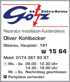 Anzeige Götz Elektro-Service