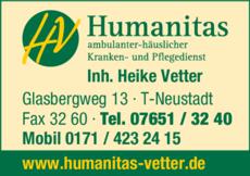Anzeige Humanitas