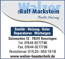 Anzeige Walzer Inh. Ralf Markstein