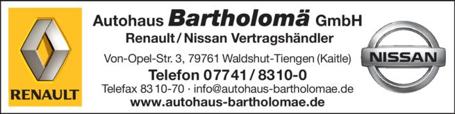 Anzeige Bartholomä GmbH