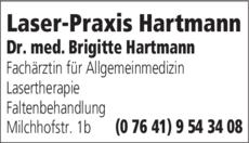 Anzeige Laser-Praxis Hartmann
