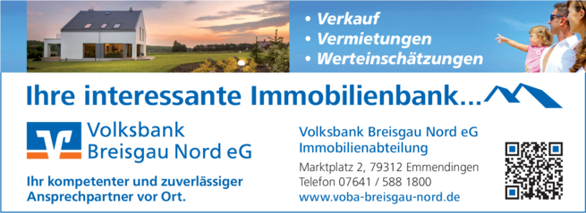 Anzeige Volksbank Breisgau Nord eG Immobilien-Abteilung